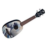 Luna Great Wave Soprano Ukulele w-bag