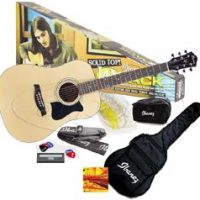 Ibanez IJV100SNT Acoustic wSolid Top JAM PACK
