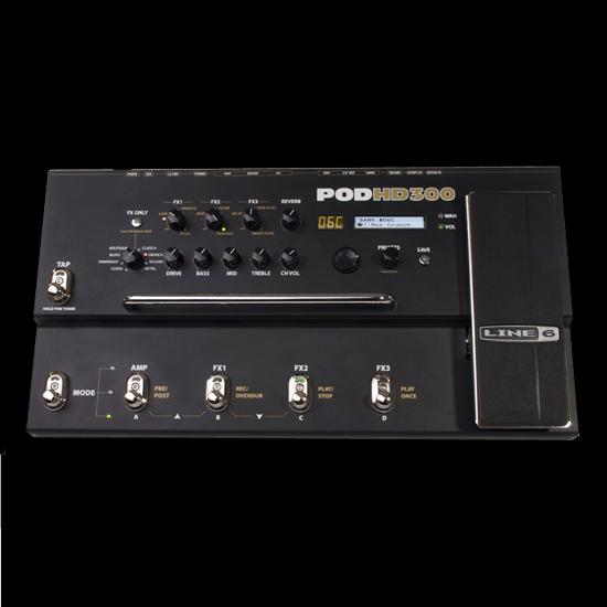 line 6 pod hd300 guitar multi effects processor deluca music. Black Bedroom Furniture Sets. Home Design Ideas