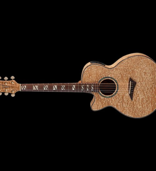 Dean Left Handed Performer Acoustic Electric  Guitar - Quilt Ash