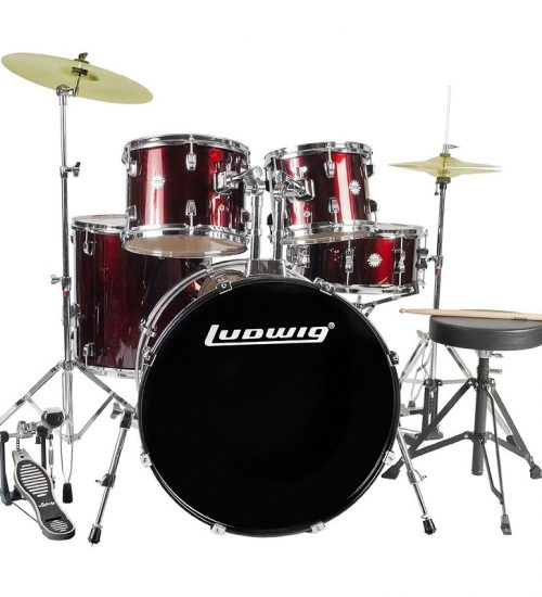 Ludwig Accent Drive 5 Piece Drum Kit - Wine Red
