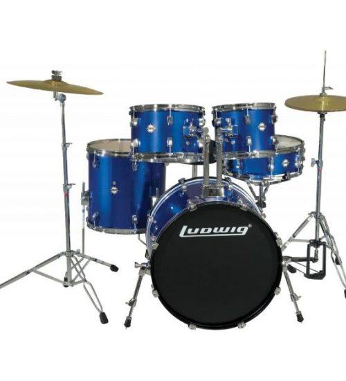 Ludwig Accent Drive 5 Piece Drum Set - Blue