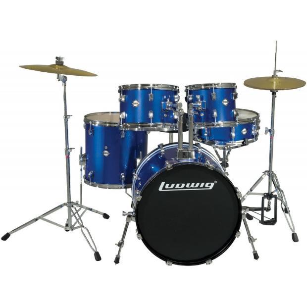 Ludwig Accent Drive 5 Piece Drum Set Blue