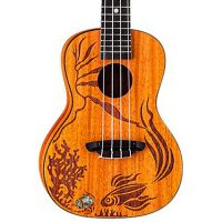 Luna Coral Solid Mahogany Concert Ukulele