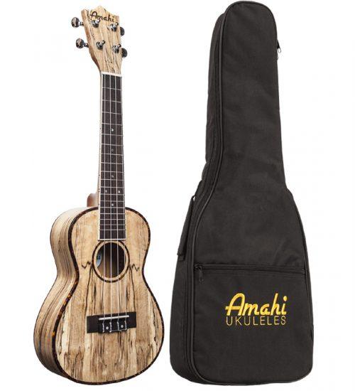 Amahi UK770c Spalted Maple Concert Ukulele