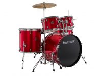 Ludwig Accent Drive 22 Bass Drum 5-Piece Kit Hardware, Cymbals,